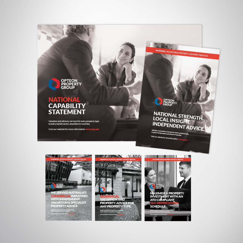 Corporate business flyer and brochure suite design.