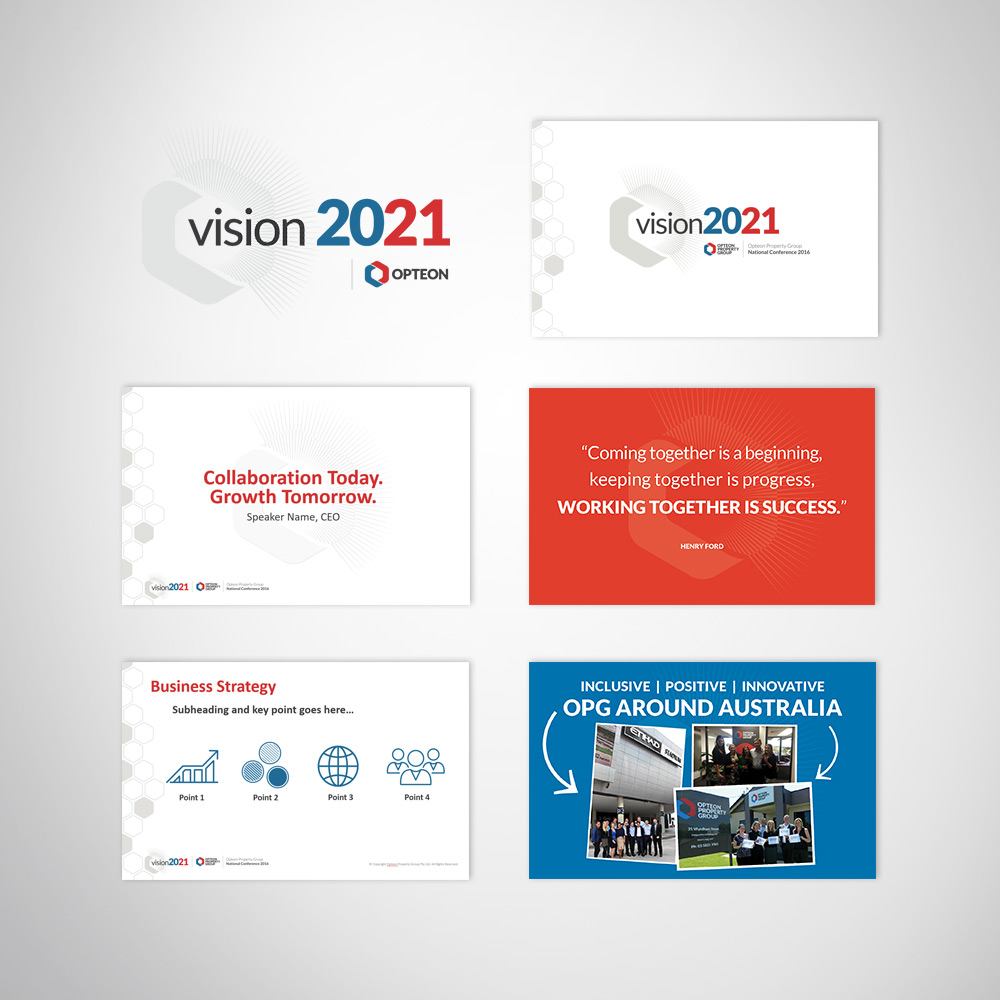 Corporate event conference custom branded keynote PowerPoint presentation slides design