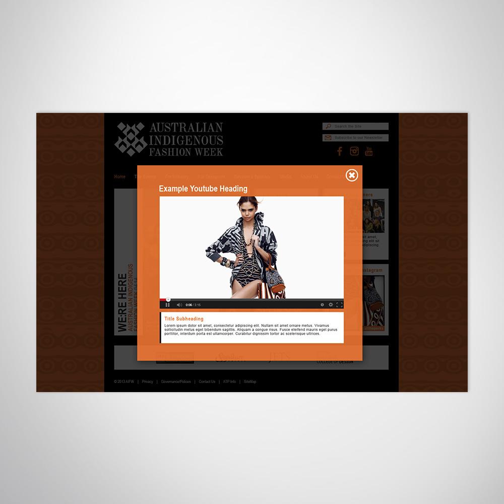 Fashion business event website design