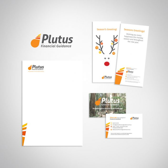Finance business branding marketing collateral, stationery and business card design