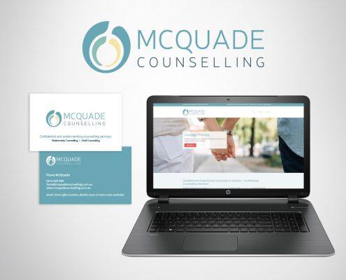 Health care business branding logo design, business cards and website design.