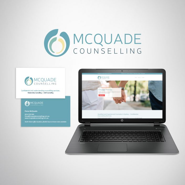 Health care business branding logo design, business cards and website design.