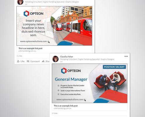 LinkedIn Post Custom Branded Photoshop Template