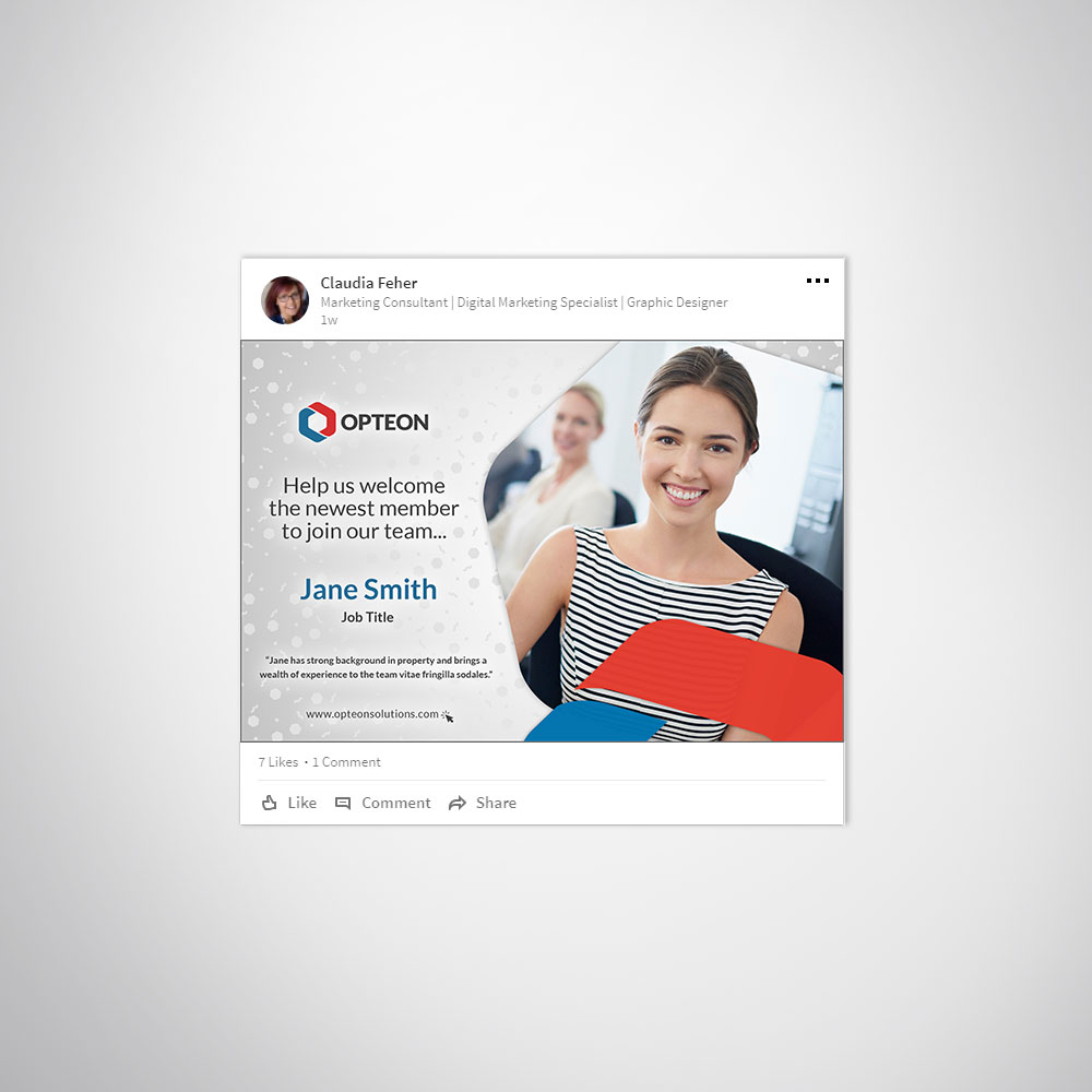 LinkedIn Post Custom Branded Photoshop Template