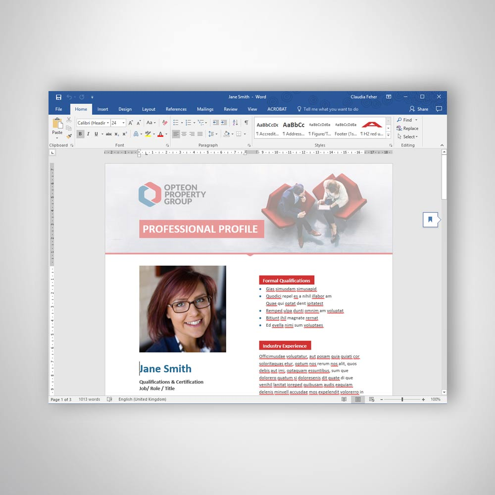 Custom Branded Digital Brochure Flyer Microsoft Word Template - Professional Document Formatting Services