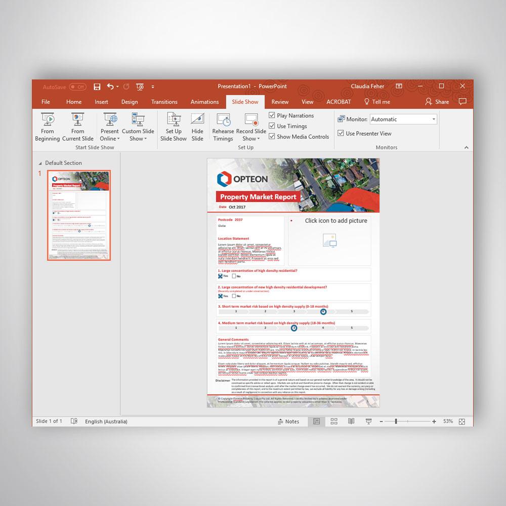 Custom Branded Professional Digital Brochure A4 Portrait Microsoft PowerPoint Template - Professional Document Formatting Services