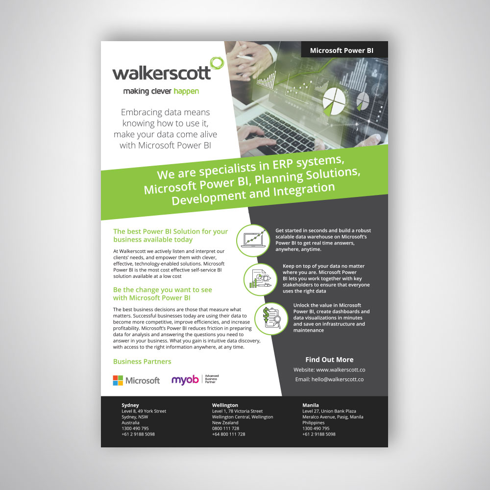 corporate tech company business a4 flyer design