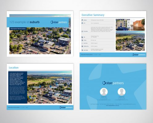 Custom Branded Professional Digital Brochure A4 Landscape Microsoft PowerPoint Template - Professional Document Formatting Services