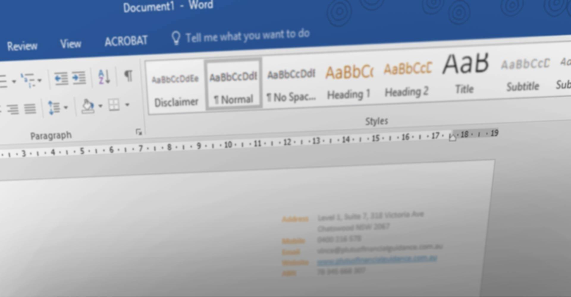 document formatting services sydney