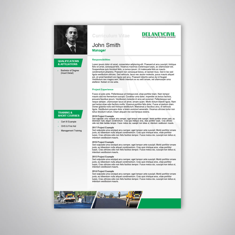 custom branded resume cv template design in powerpoint
