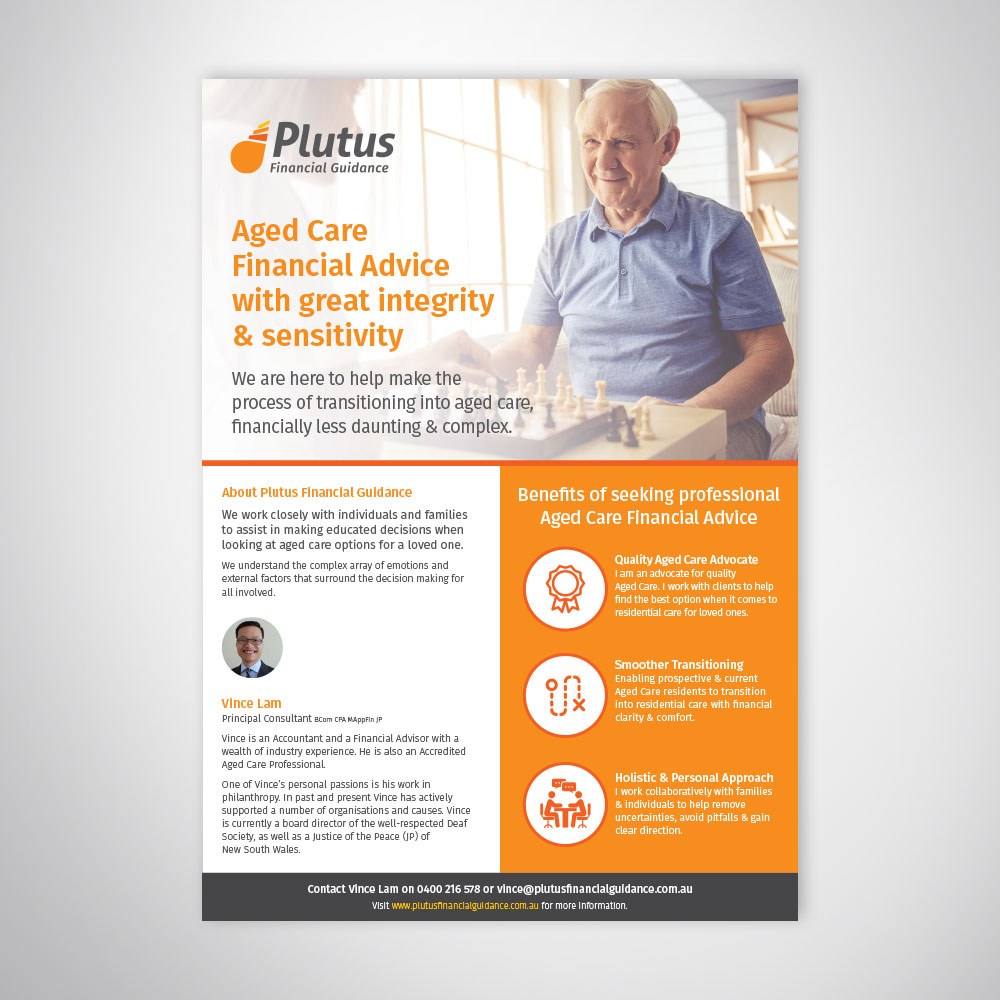 A4 Flyer Design for Aged Care Sector