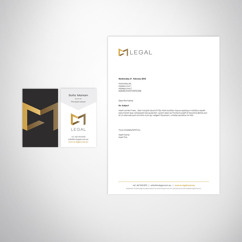 Legal Firm Branding Design & Marketing Materials