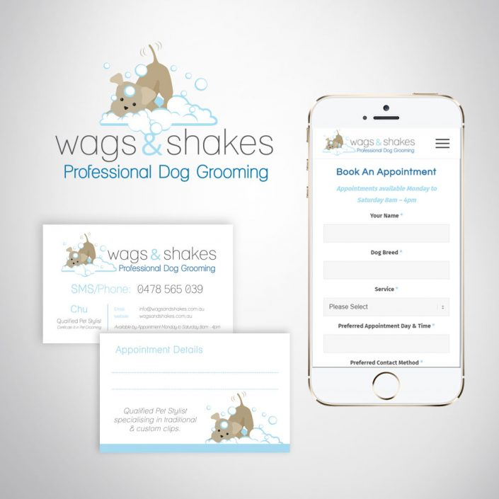Pet Grooming Business Logo Design and Marketing Materials