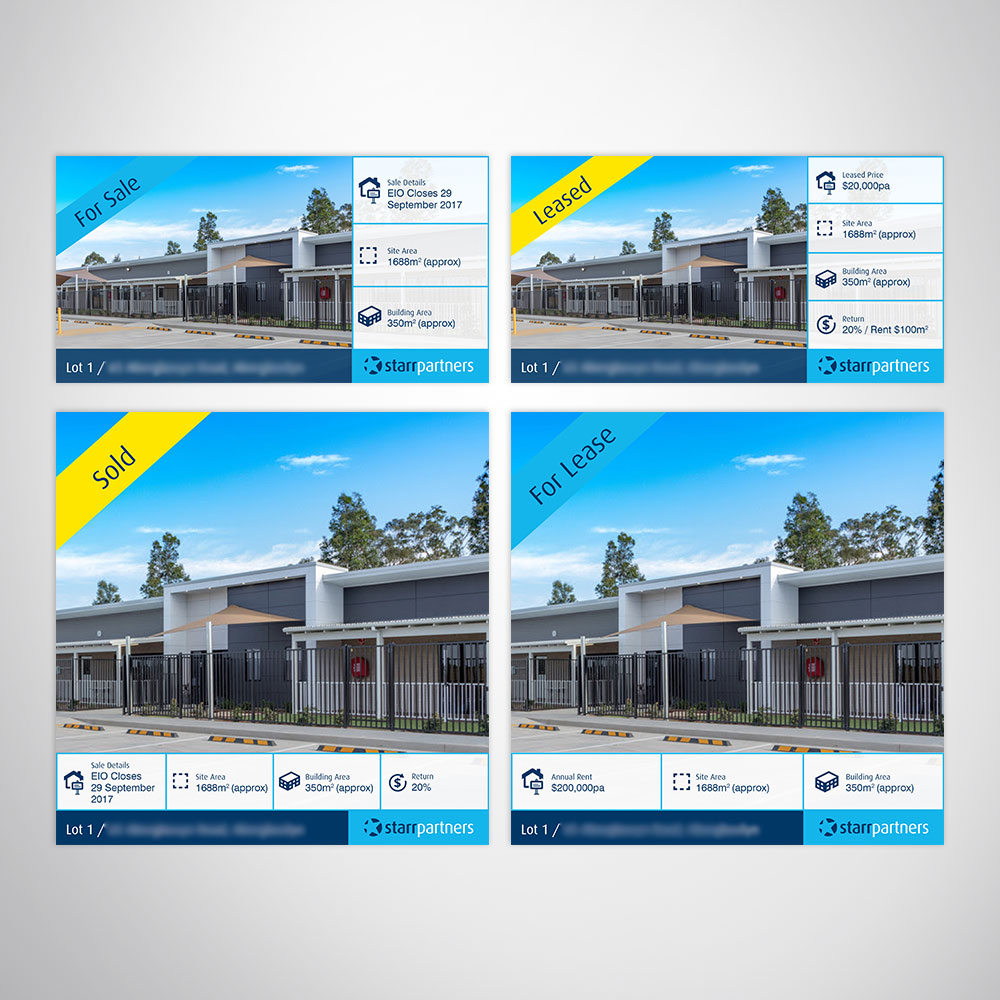 Real Estate Facebook Banner Canva Custom Template Design