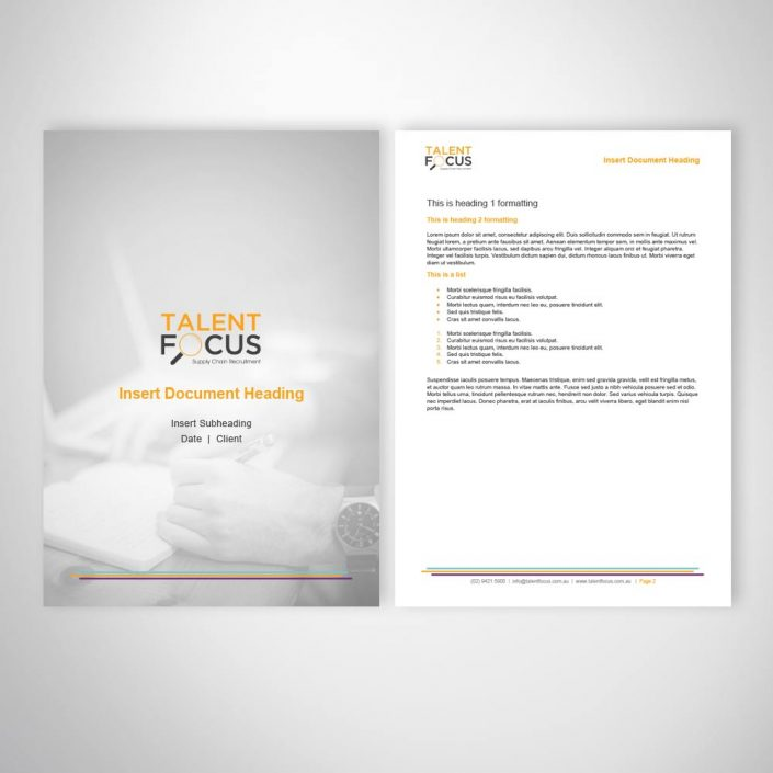 Recruitment Business Marketing Template Design