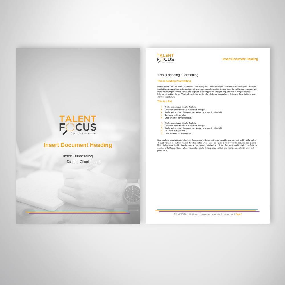 Recruitment Business Marketing Template Design