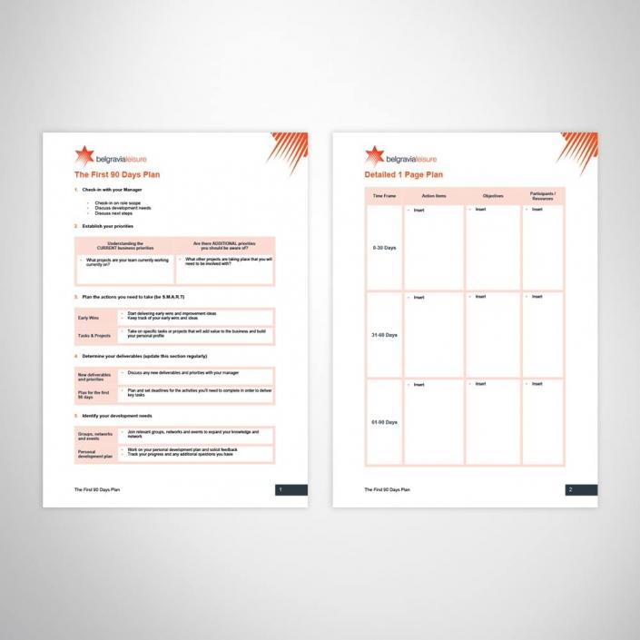 HR custom design performance management word template
