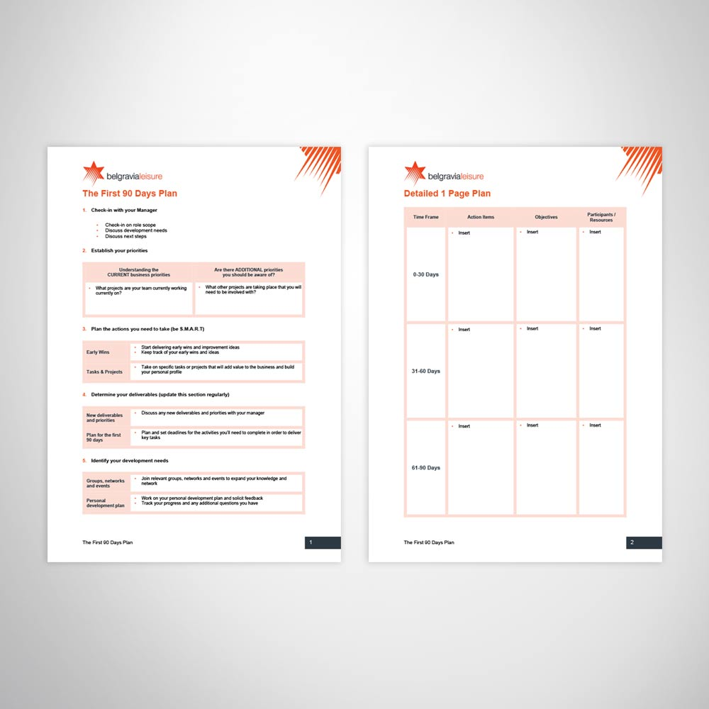 HR custom design performance management word template