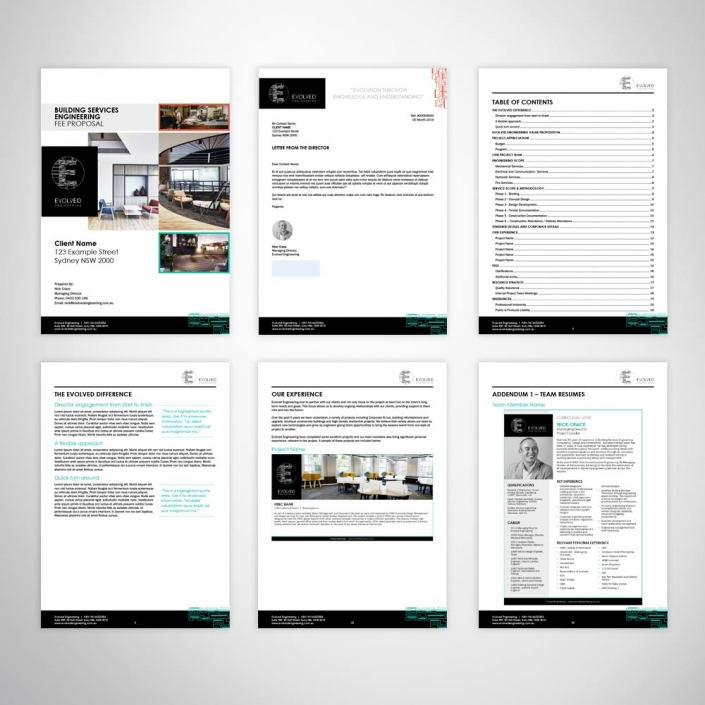 Custom Design Fee Proposal Tender Microsoft Word Template