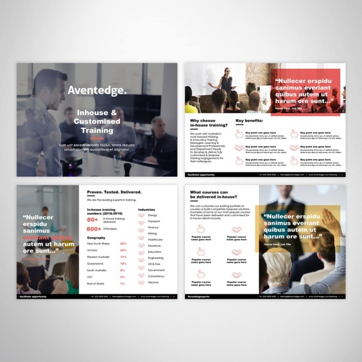 Custom Branded PowerPoint Presentation - Pitch Proposal Brochure